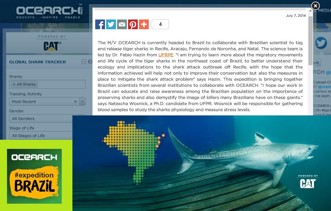 Coluna Semanal Natascha Wosnick - OCEARCH EXPEDITION BRAZIL 2014 - Programa Território Animal