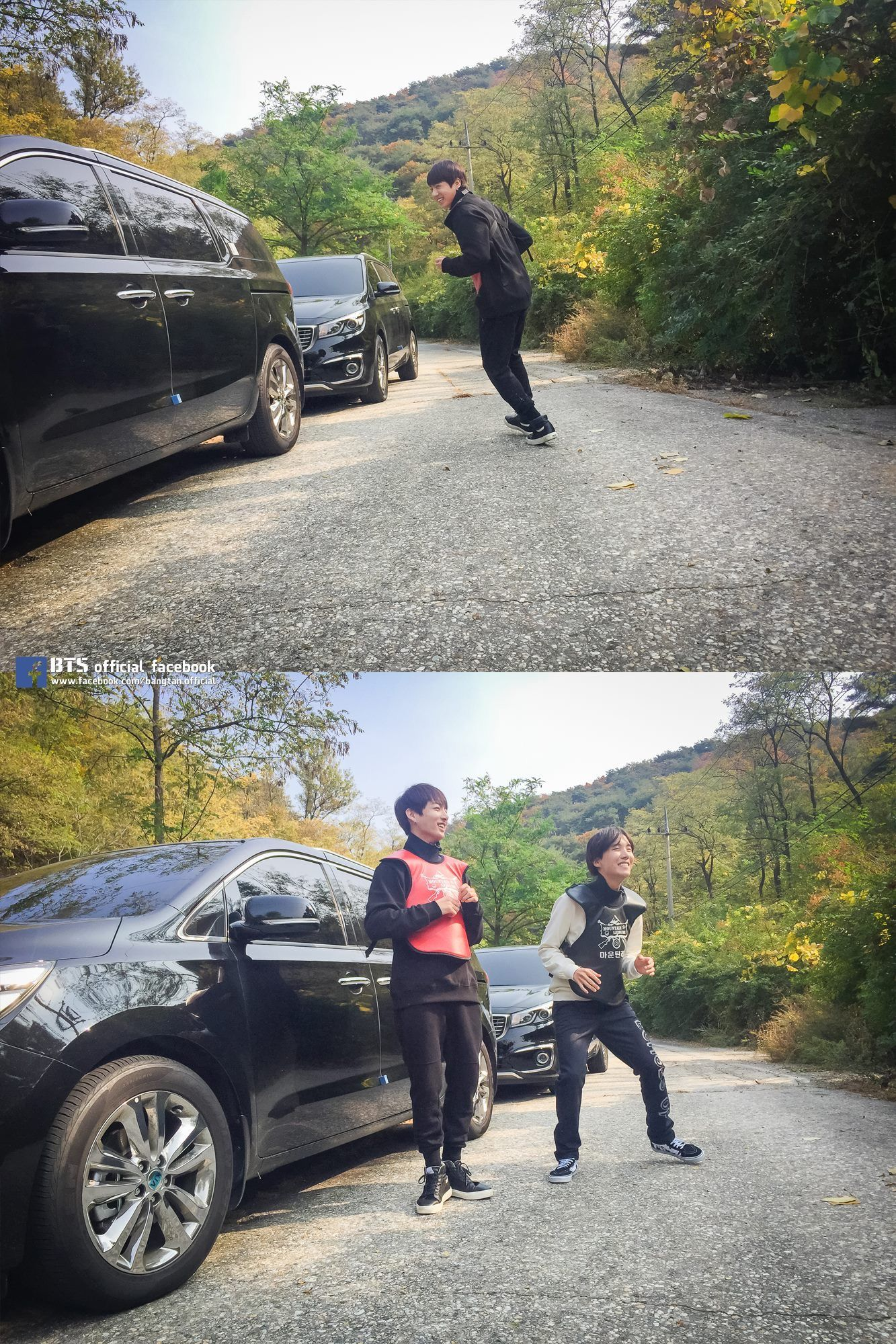 Jungkook and J-Hope- BTS [#V앱 비하인드]  숨소리만 가득했던 V앱 달려라방탄 서바이벌 편- 비하인드 업데이트!