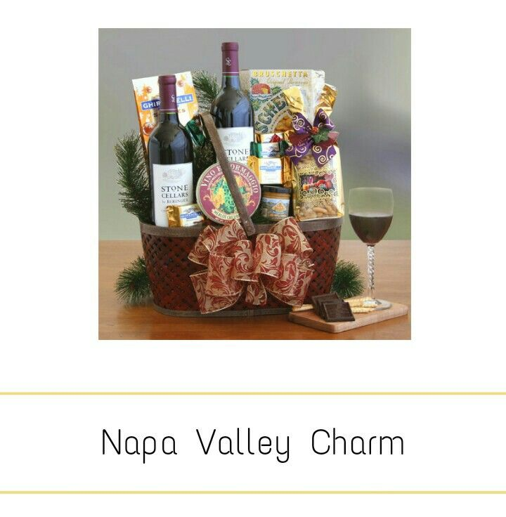 Napa valley charm Wine gift basket