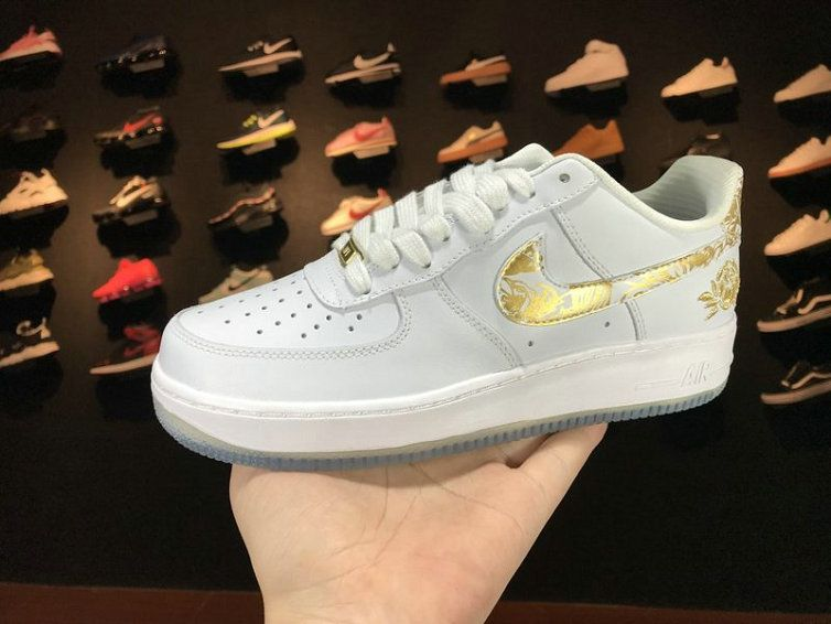 ... official nike air force 1 low premium lunar new year id white gold  919729 992 casual f6605eb43