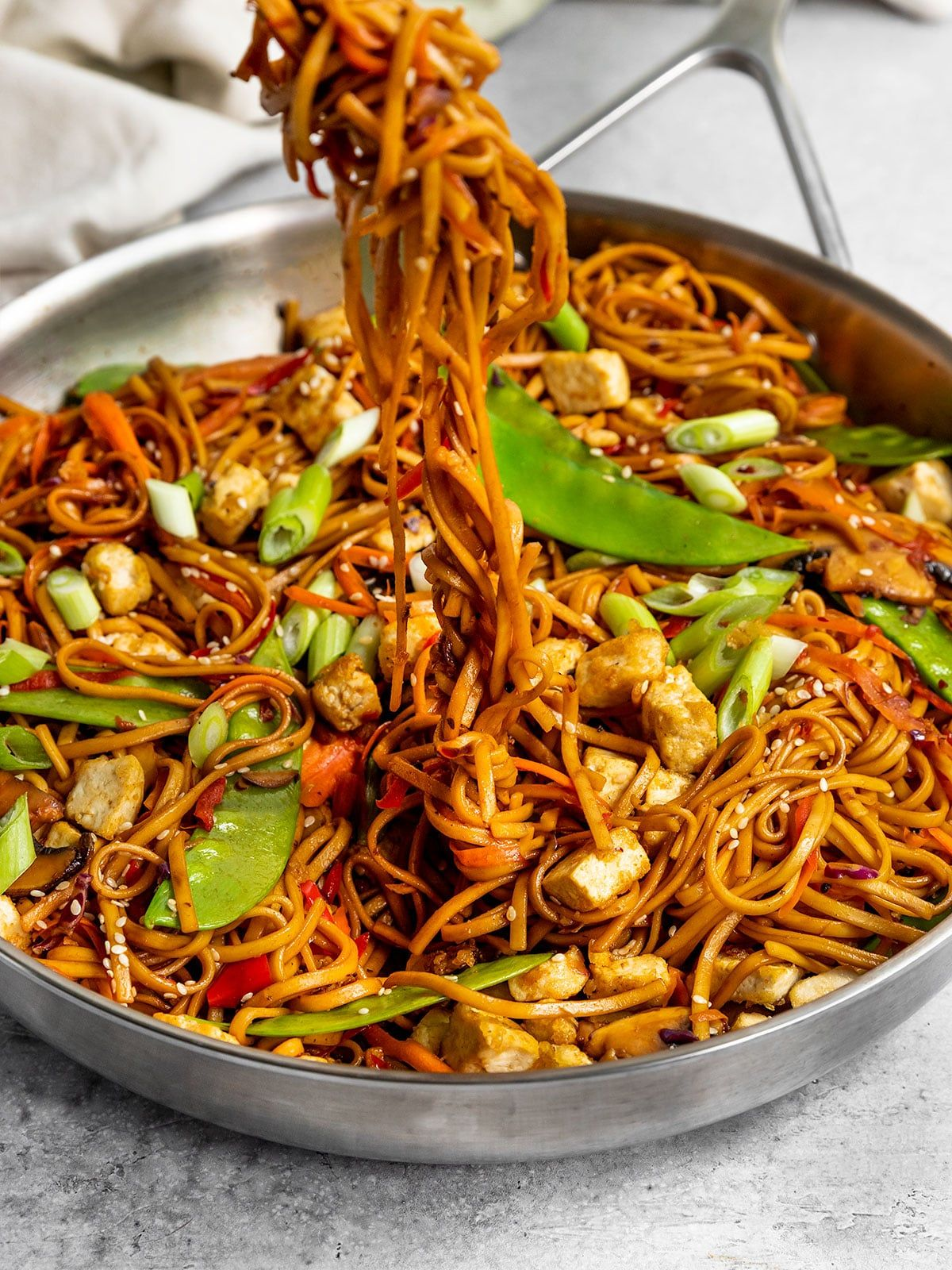 Vegan Vegetable Lo Mein with Tofu