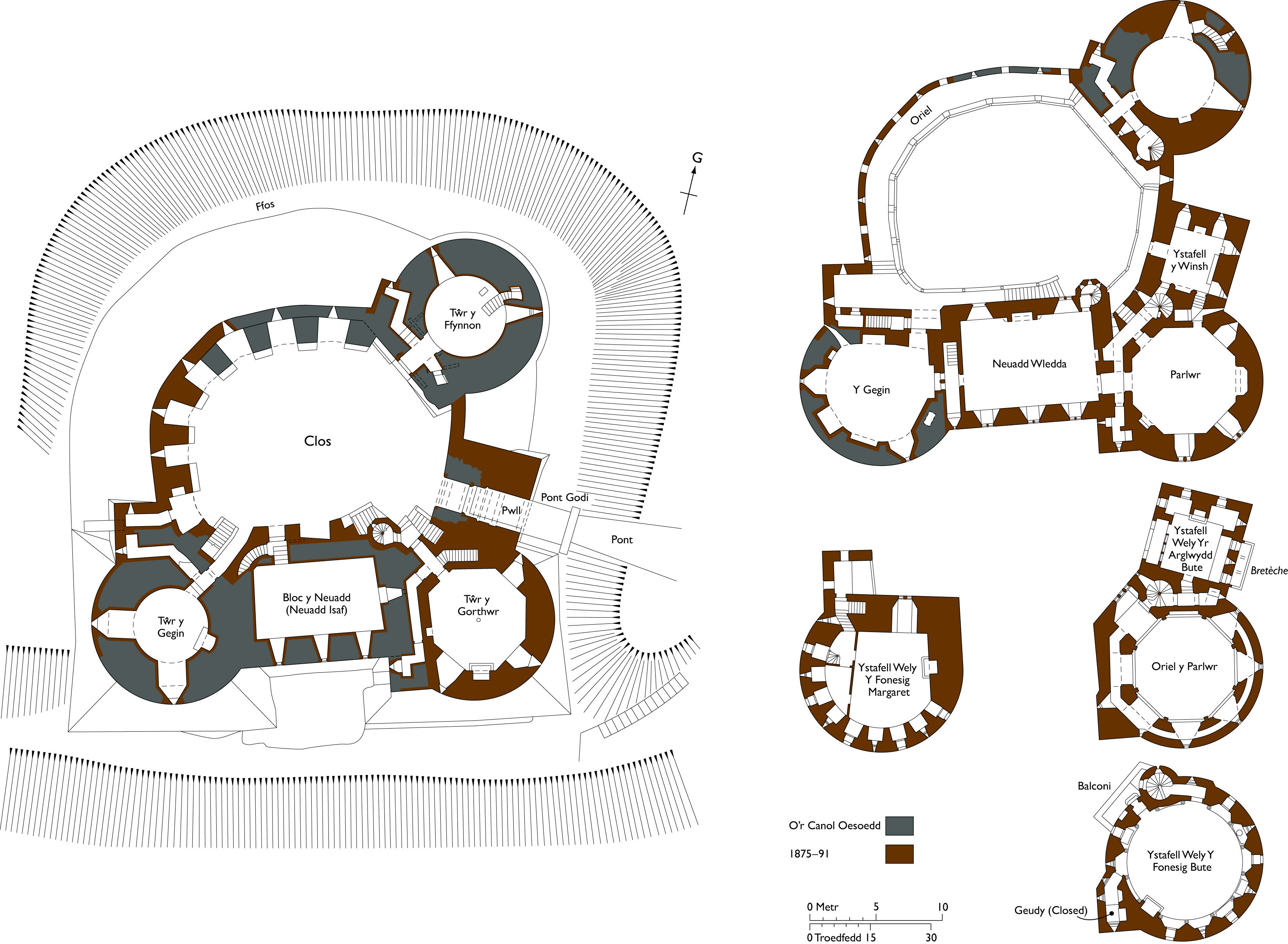 Ground Plan Castell Coch Castle Plans Castle Layout History Design