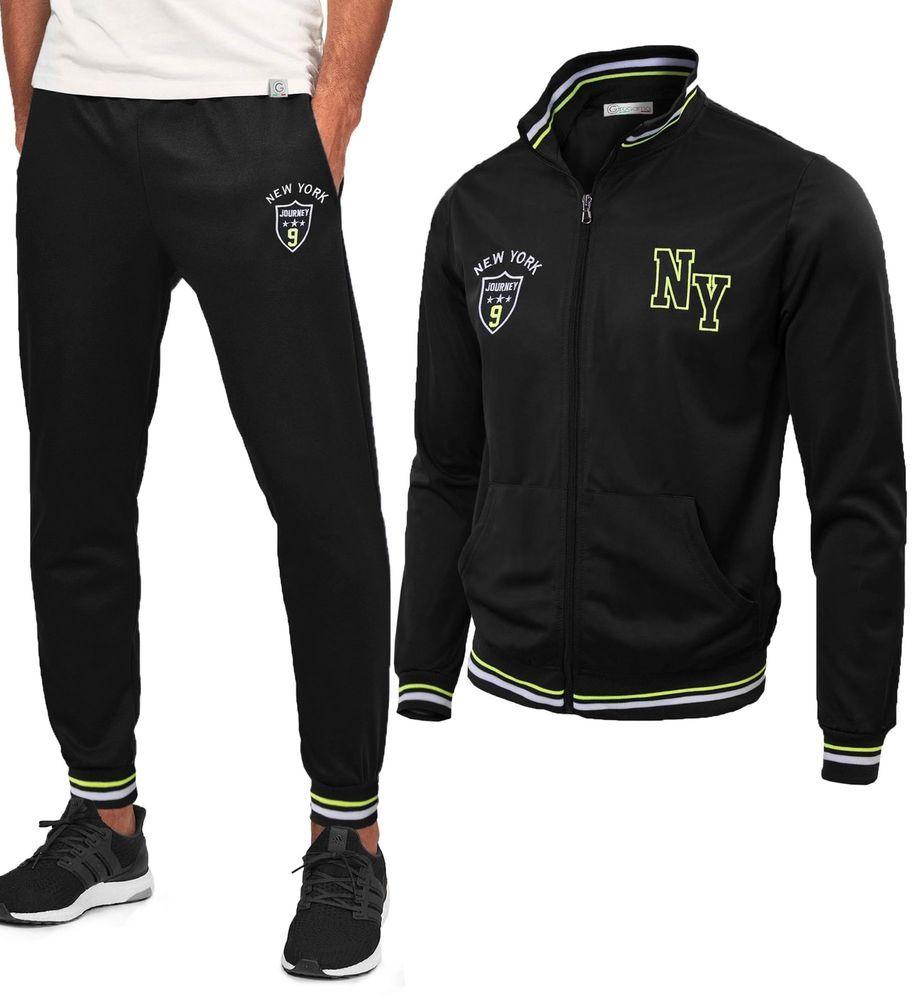 Tuta Sportiva Uomo Maglia con Cerniera Pantaloni Basic