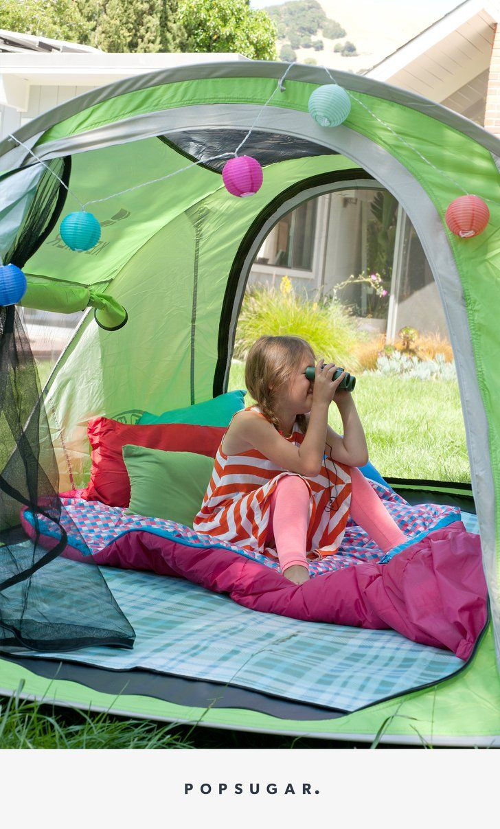 effortlessly transform your backyard into a family camping getaway