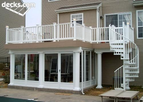 Under Deck Rooms And Spiral Deck Stairs Are Two Of The
