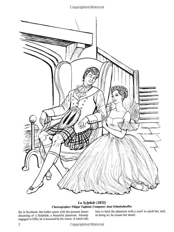 Dover Ballet Coloring Book | Coloring Page