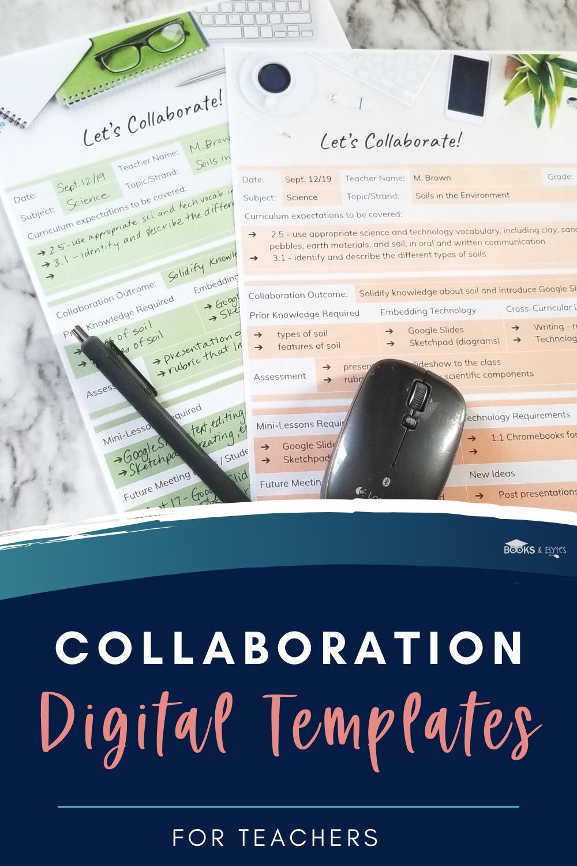 Teacher Librarian Collaboration Templates For Google Slides Teacher Librarian Technology Vocabulary Science Topics