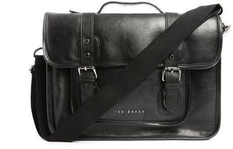 Ted Baker Black The Fox Pu Bag in Black for Men