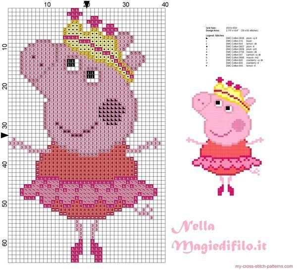 Peppa Pig Teddy Cross Stitch Kleiner Kreuzstich