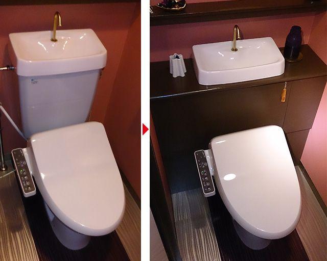 トイレタンクを隠すキャビネットを自作 En 2020 Banos Decoracion