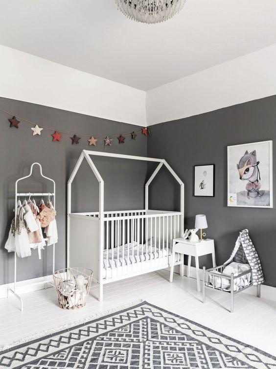 Ideas para pintar la habitación del bebé en dos colores | Kid\'s ...