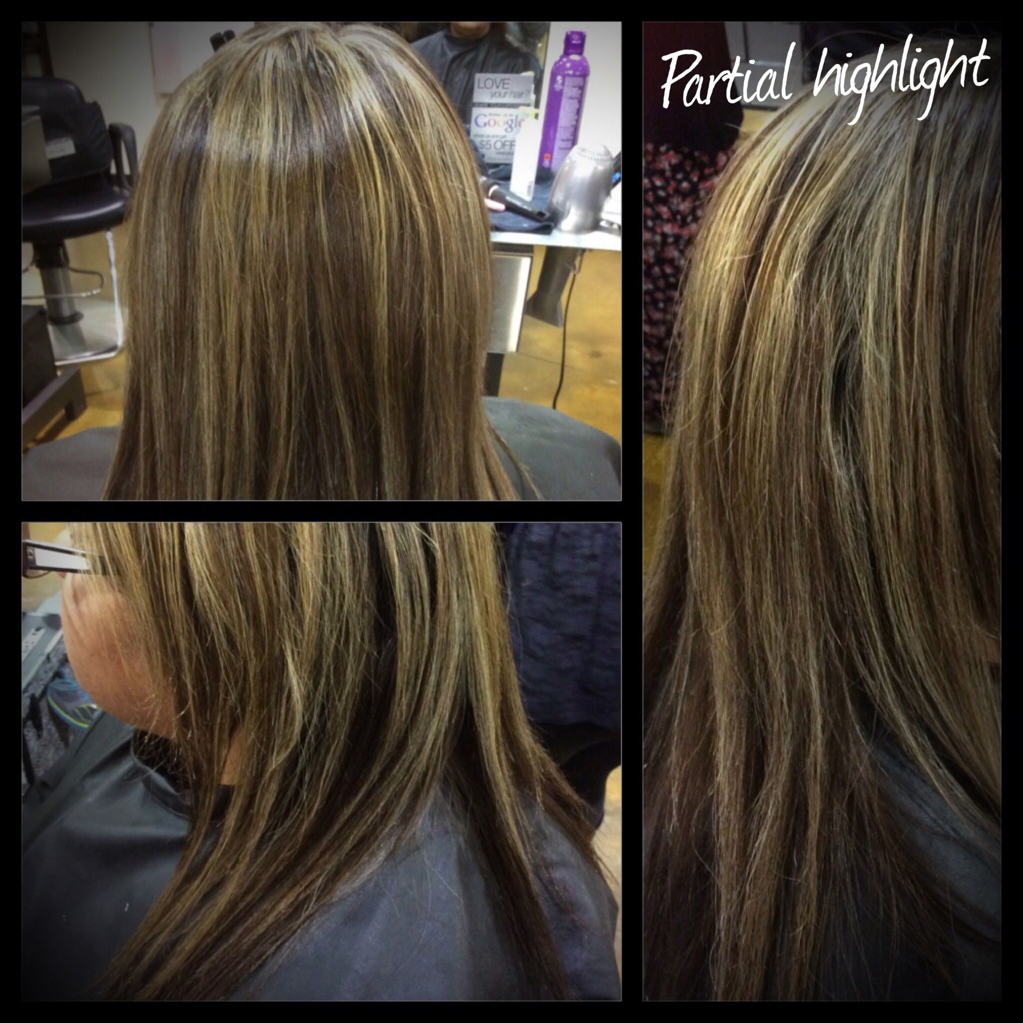 Half Head Highlight Long Hair Styles