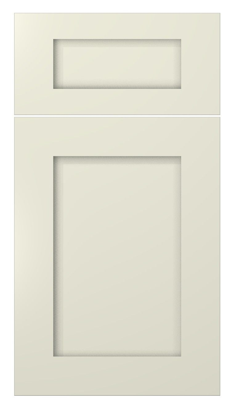 Dura supreme cabinetry highland cabinet door style shown for Shaker style kitchen cabinets white