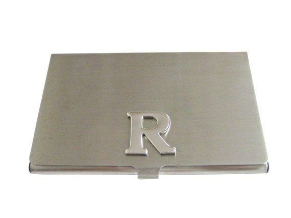 Letter R Monogram Business Card Holder