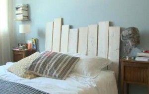 bricolage tête de lit récup