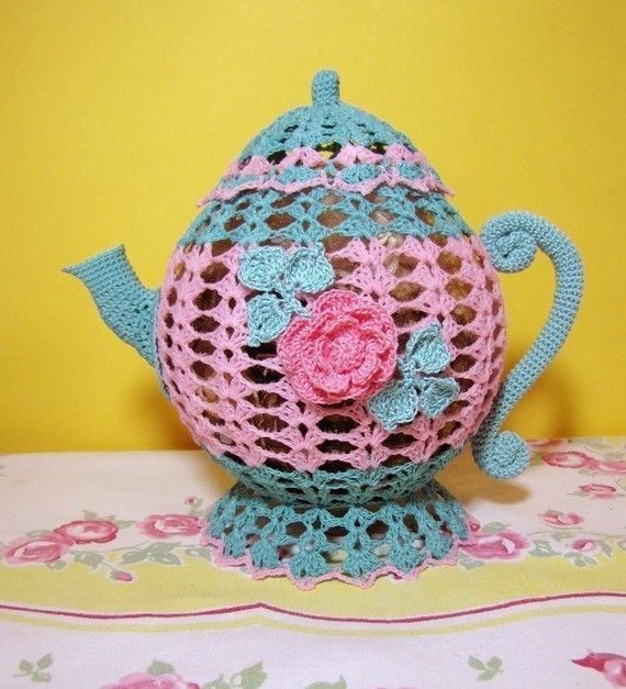 PDF Crochet Pattern Time for Tea Ebook por BellaCrochet en Etsy