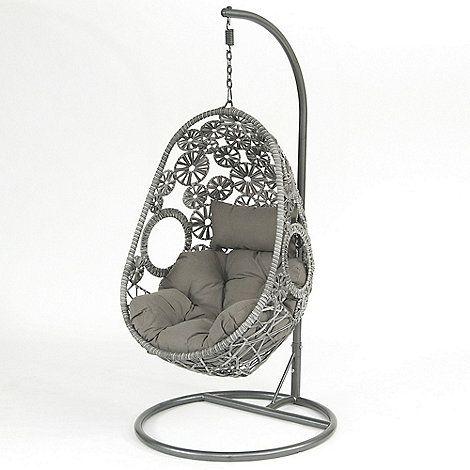 Debenhams Grey \'Flower Pod\' hanging chair- | Debenhams | Garden ...