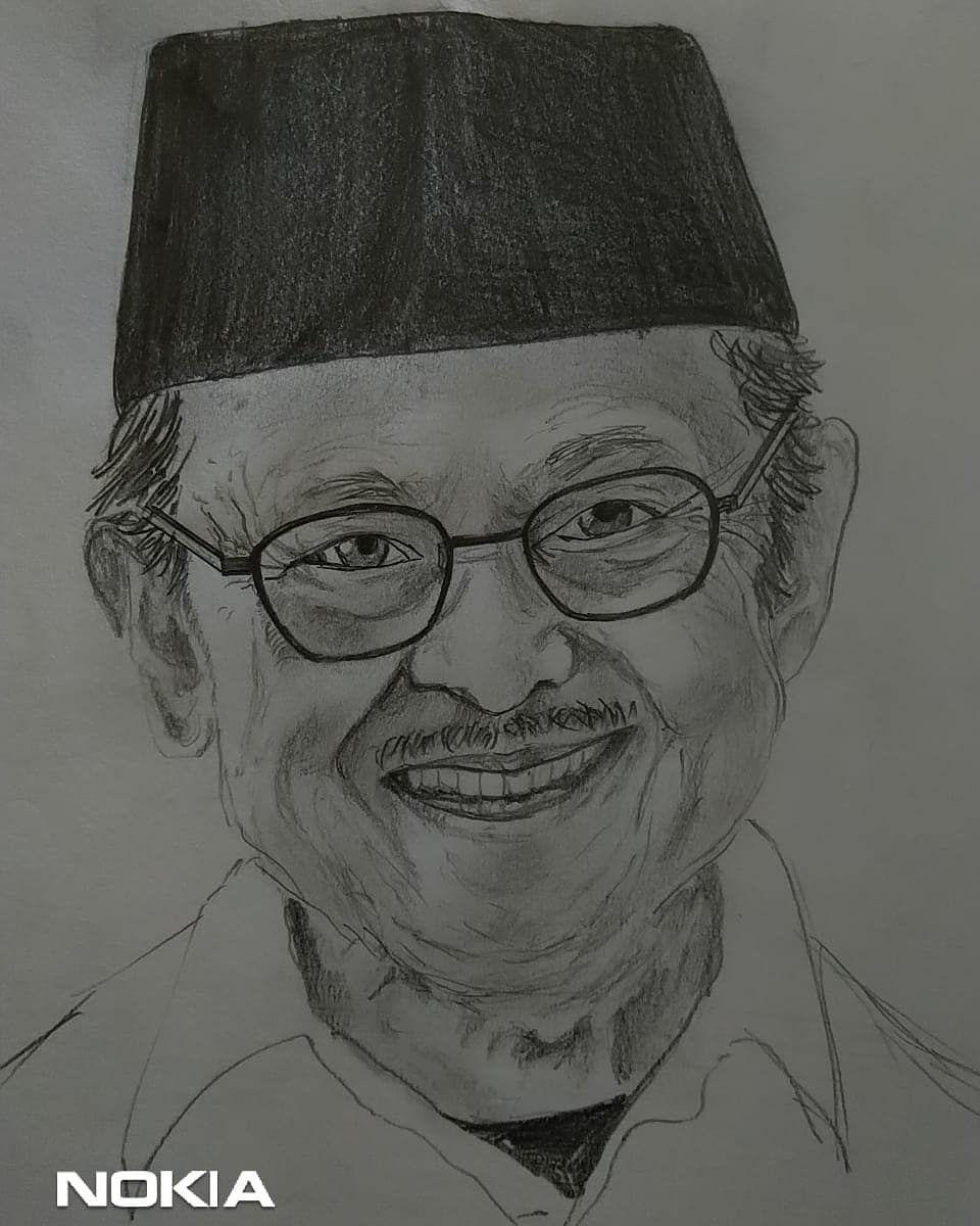 Gambar Sketsa Wajah Pahlawan Nasional