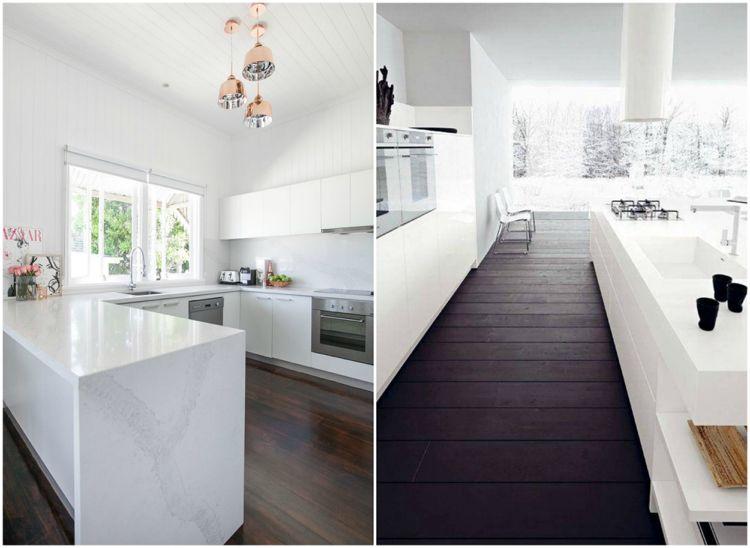 diese haeufigen fehler bei der kuechengestaltung sollten sie vermeiden, küchenideen weiß dunkler holzboden | wohnideen küche | pinterest, Innenarchitektur