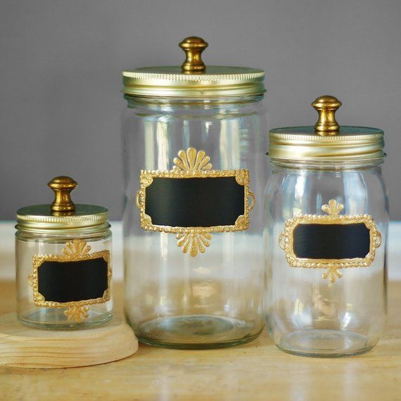 Kitchen Canisters Apothecary Jars Canister Set Farmhouse ...