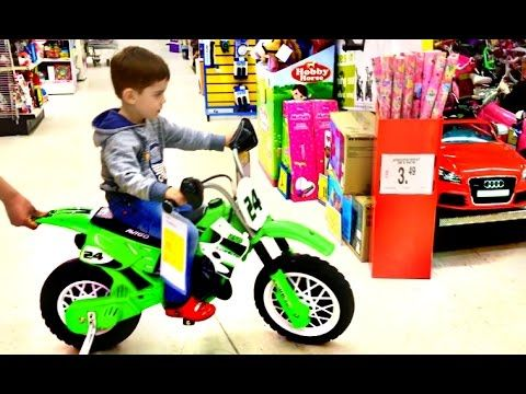 Little Boy Playing At Toys R Us Superstore Fun For Kids Youtube