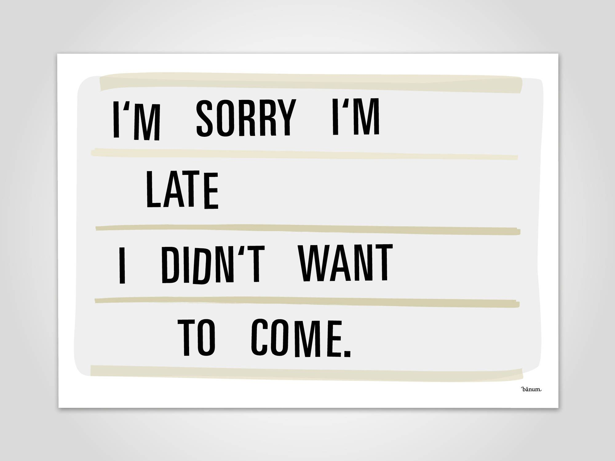 Art print posters lightbox 2 sorry art print funny gift christmas typography quote saying - Lightbox weihnachten ...