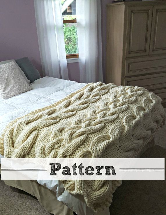 Chunky Oversized Cable Knit Blanket Pattern Cable Knit Blankets