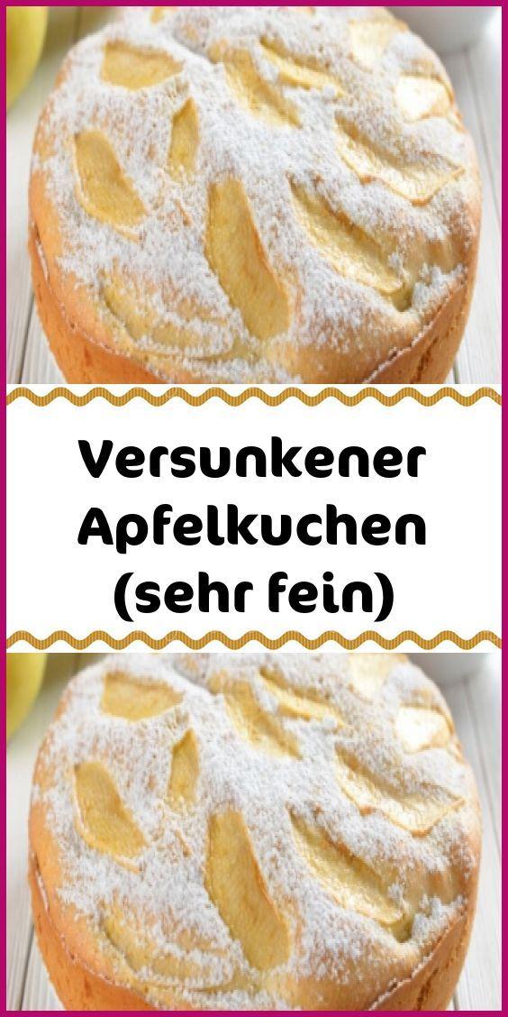 Versunkener Apfelkuchen (sehr fein)