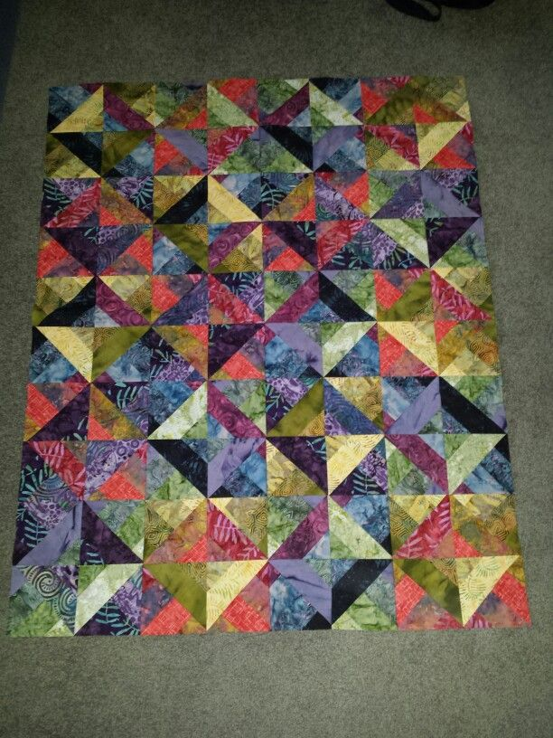 Blocks Using 3 Dudes Method From A Batik Jelly Roll Favorites