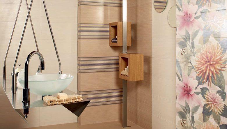 Ambientes decorativos para cuartos de ba o creados con for Ceramica para cuartos