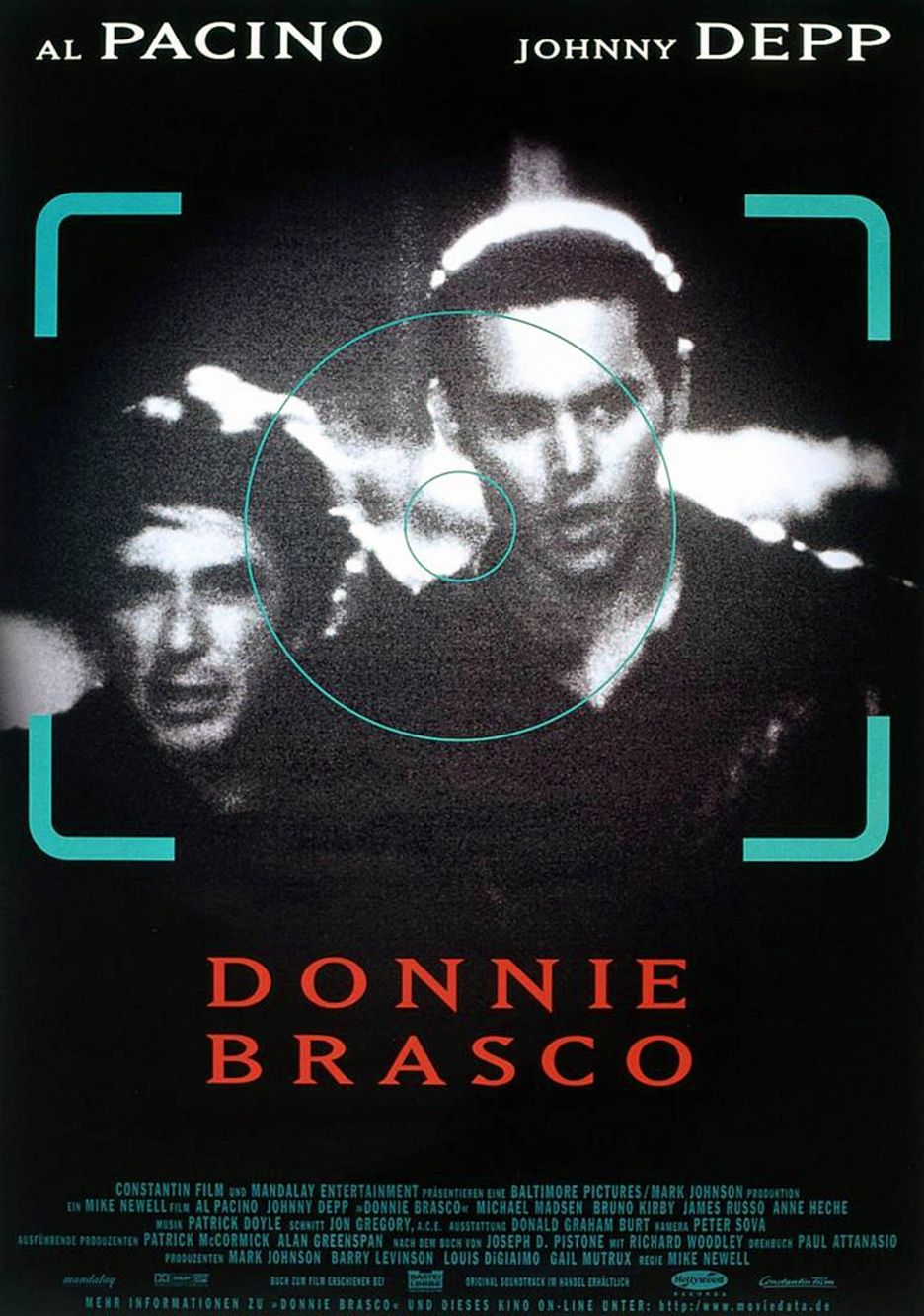 a movie review of donnie brasco Film review -- `donnie brasco' a tale of guns and roses contrary to movie myth, the mafia is not made up of dignified men in tuxedos mumbling about honor pacino is paired with johnny depp, who.