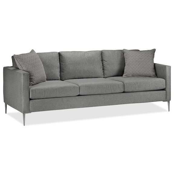 Beautiful Living Room Furniture   Orly Sofa   Silver
