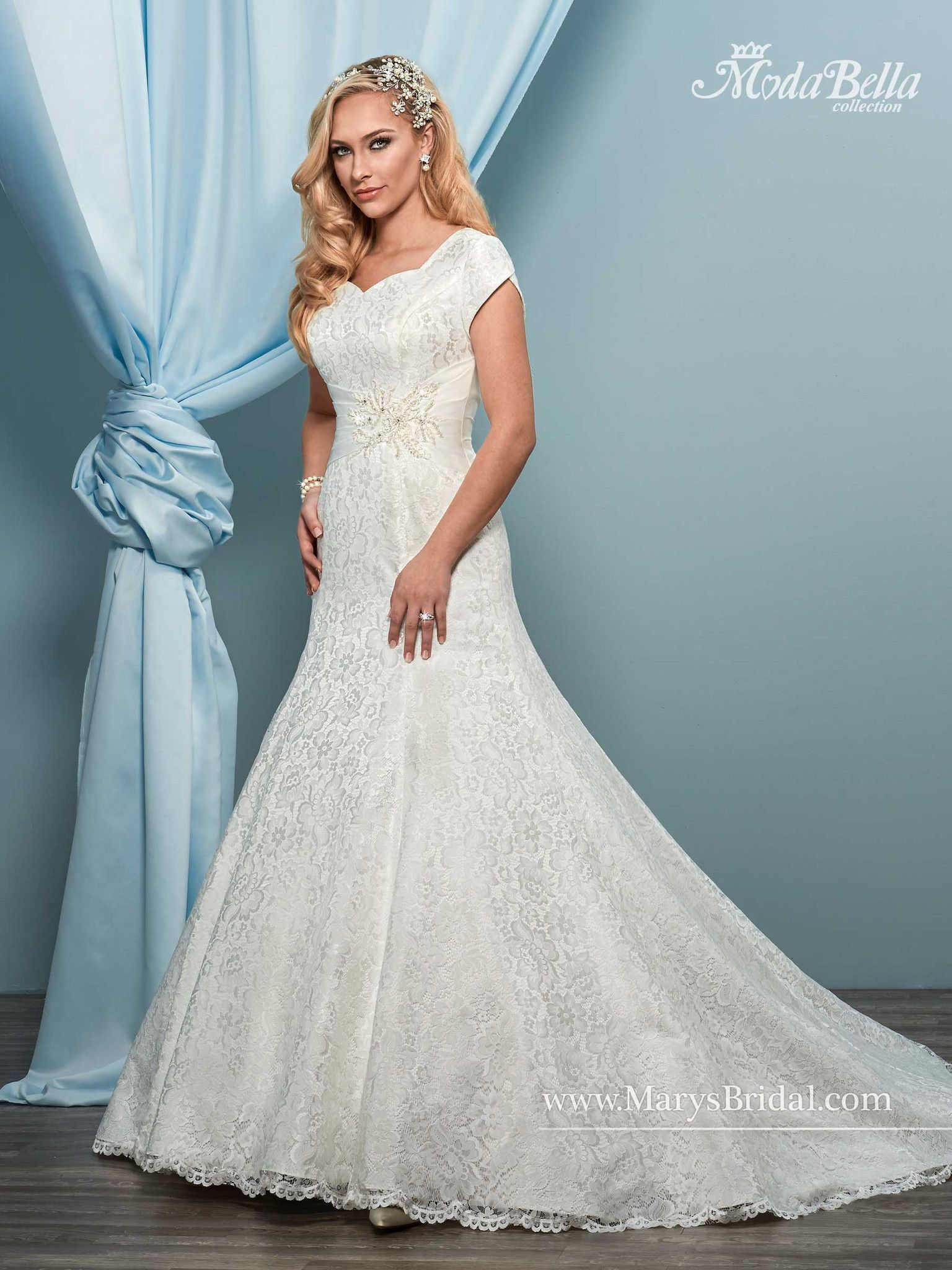 All-Over Lace Cap Sleeves Mermaid Gown | Products | Pinterest | Products