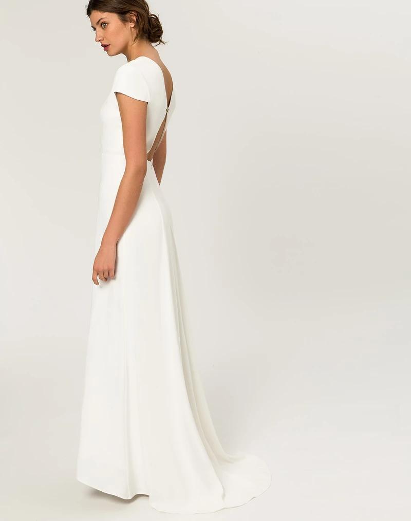 Bridal Cap Sleeve Gown Snow White – IVY & OAK  Bridal cap