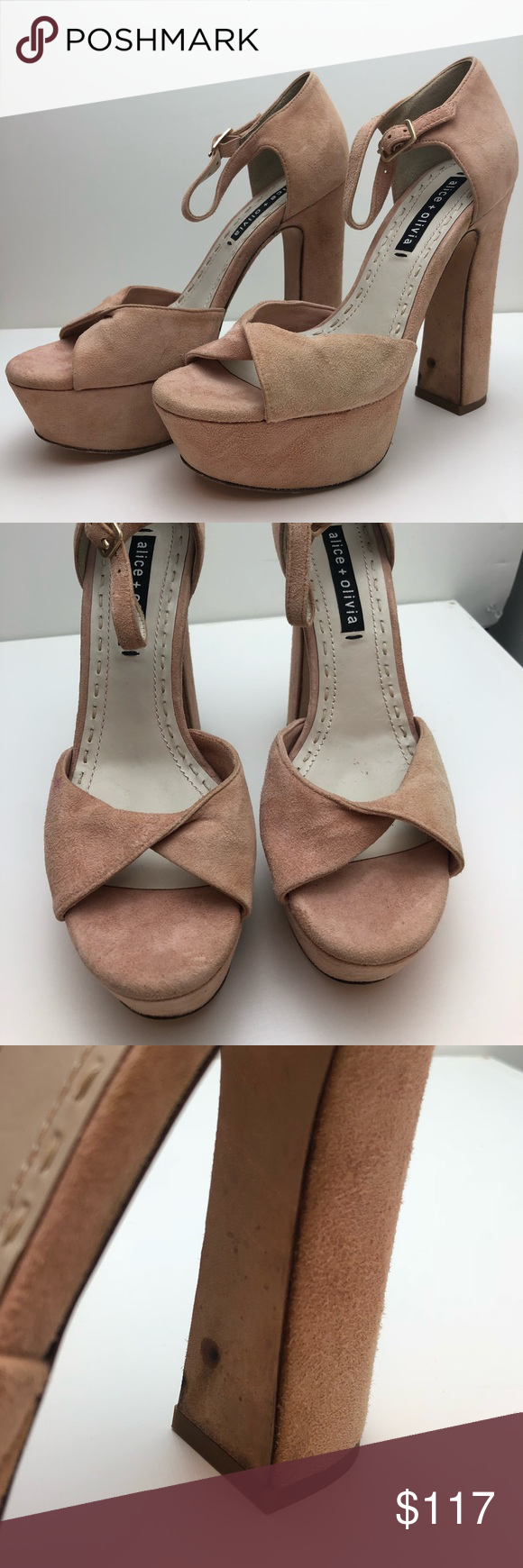 d74ab7ffea05 Alice   Olivia Layla suede platform sandals Alice and Olivia Layla suede platform  sandals - never