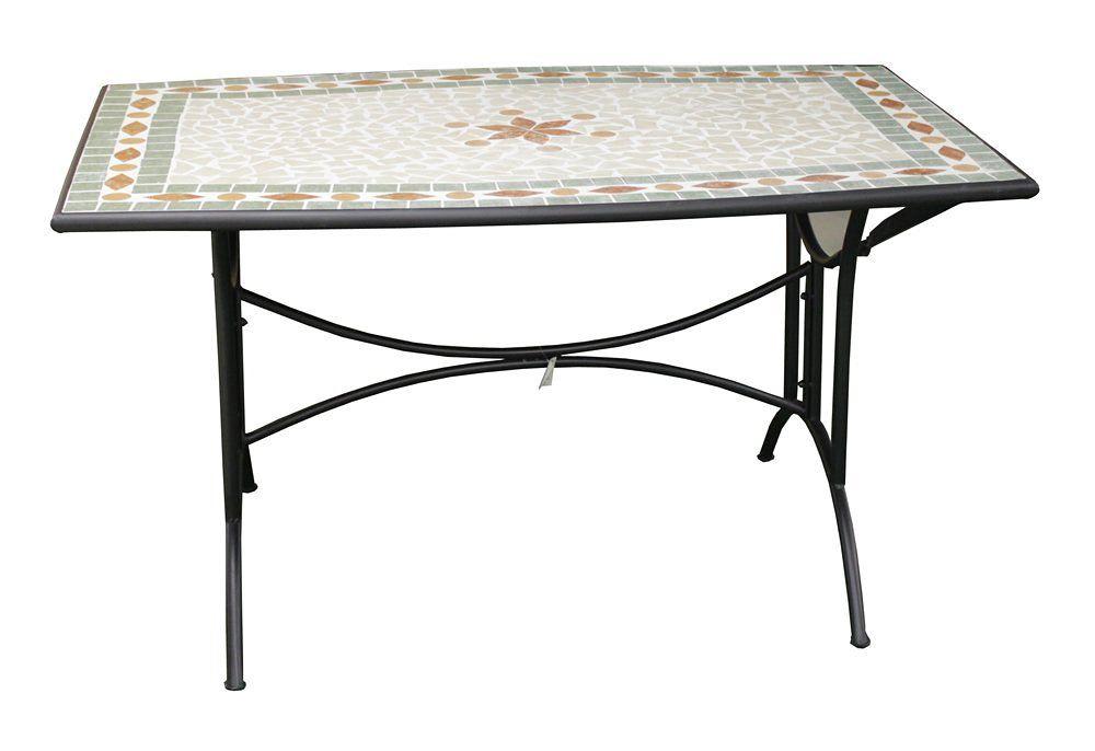 Tavolo Da Giardino Mosaico.Tavolo Fisso In Ferro Con Piano A Mosaico Amazon It