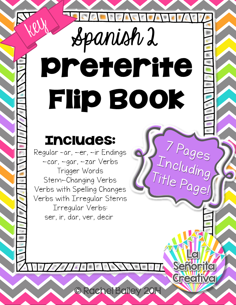 Spanish Preterite Notes Flip Book For Interactive Notebooks Preterite Spanish Preterite Spanish Students [ 1056 x 816 Pixel ]