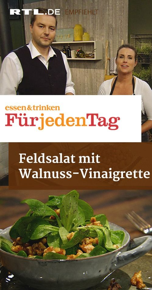 Feldsalat mit Walnuss-Vinaigrette