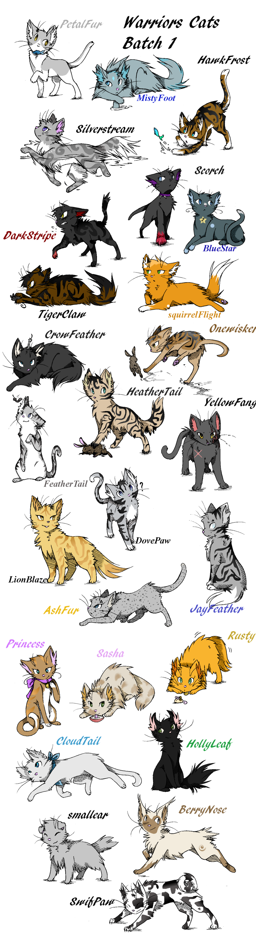 Anime Warrior Cat Drawings Love Your Cat Pinterest