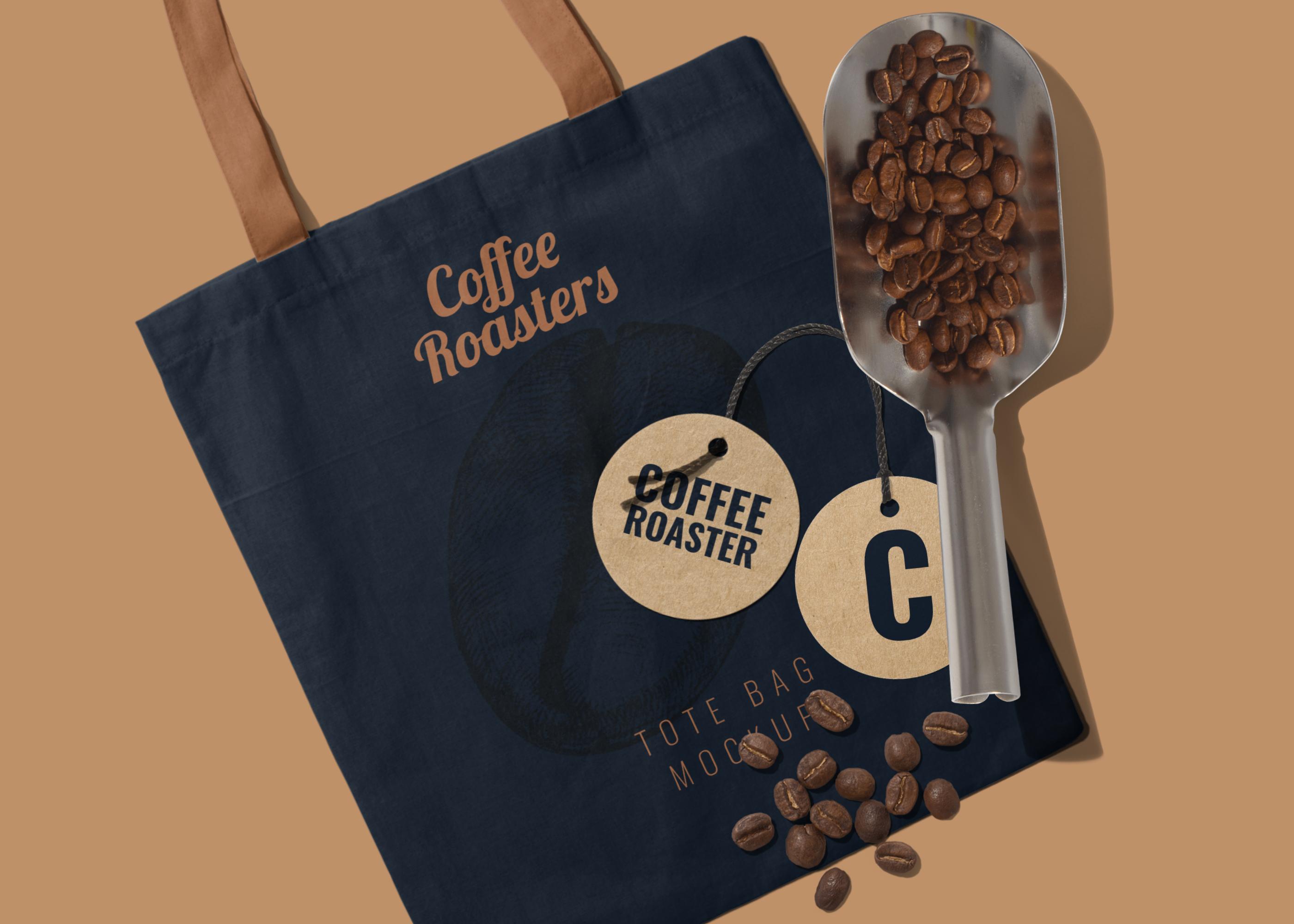 Download Coffee Brand Tote Bag Mockup Scene Bag Mockup Branded Tote Bags Your Design
