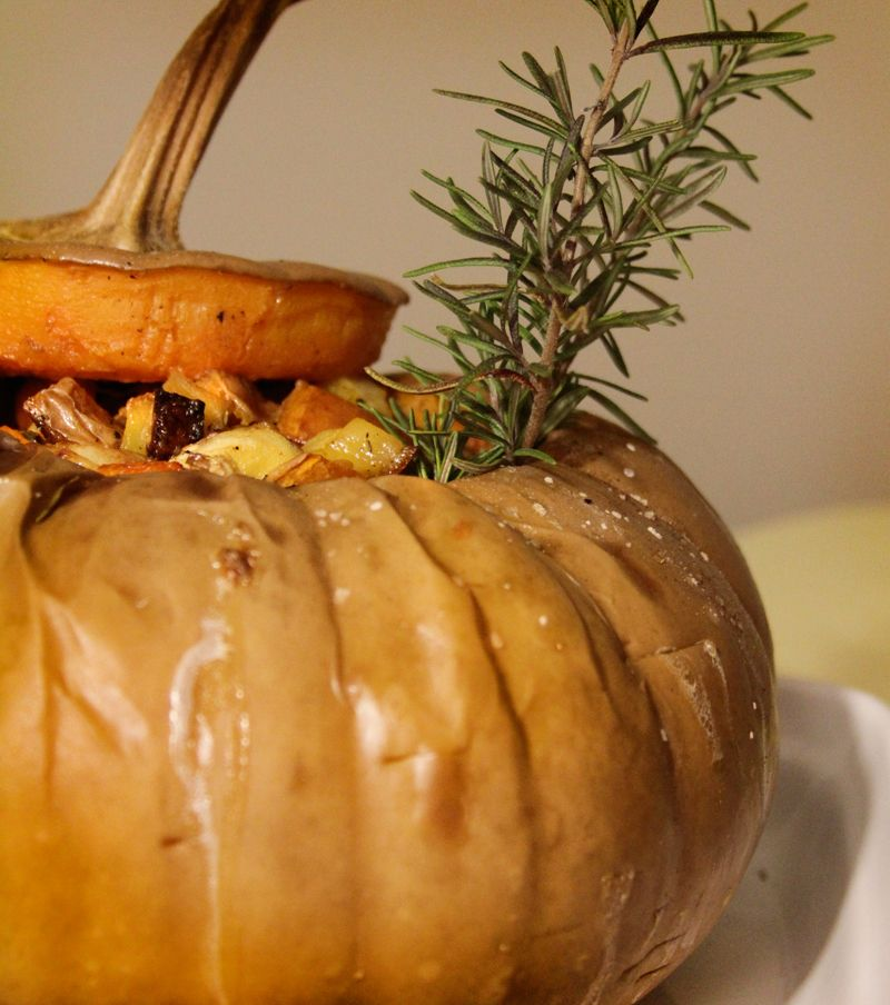 Roasted Root Vegetables Stuffed In A Long Island Cheese