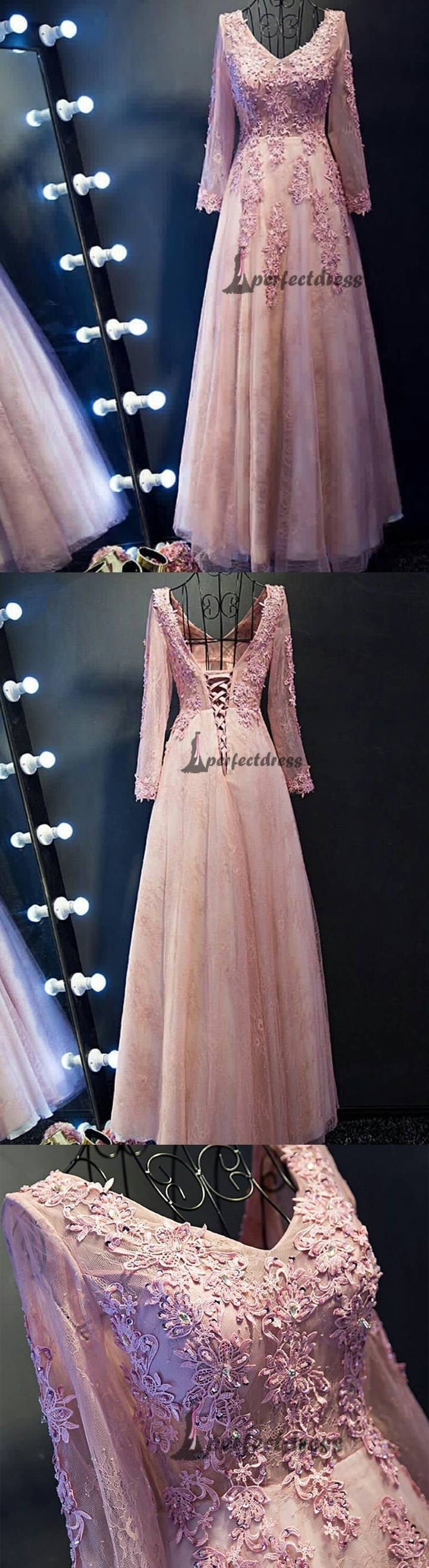 Chic vneck prom dresses sexy long lace prom dressespd