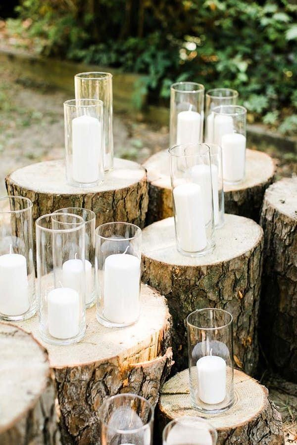 This Couple Had a $2,000 Wedding and Good God Was It Gorgeous This $2k Backyard Wedding Is So Gorgeous. Jenny found these amazing tree stumps (which acted as pedestals for her candles) for free on Facebook marketplace.