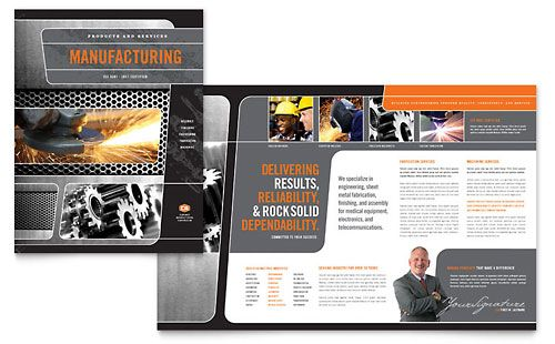 Stock Layout for an Engineering Firm Flyer - Useful reference for - sample marketing brochure