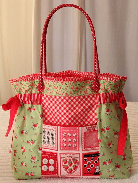 farmers market bag by PamKittyMorning, via Flickr | Sewing ...