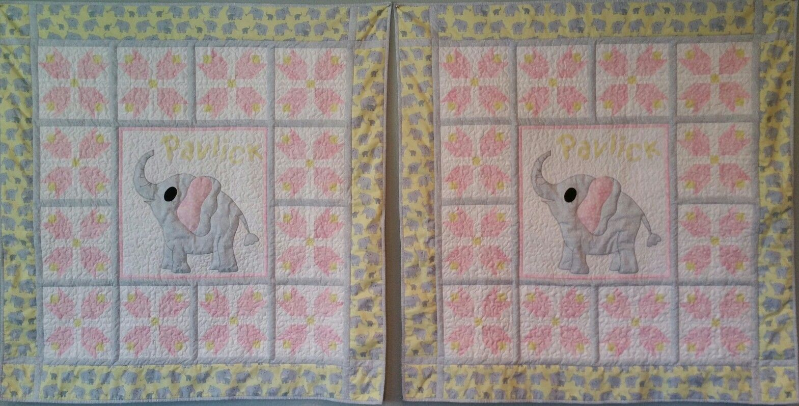 Twin Baby Girl Elephant Quilts Baby Quilt Ideas Pinterest