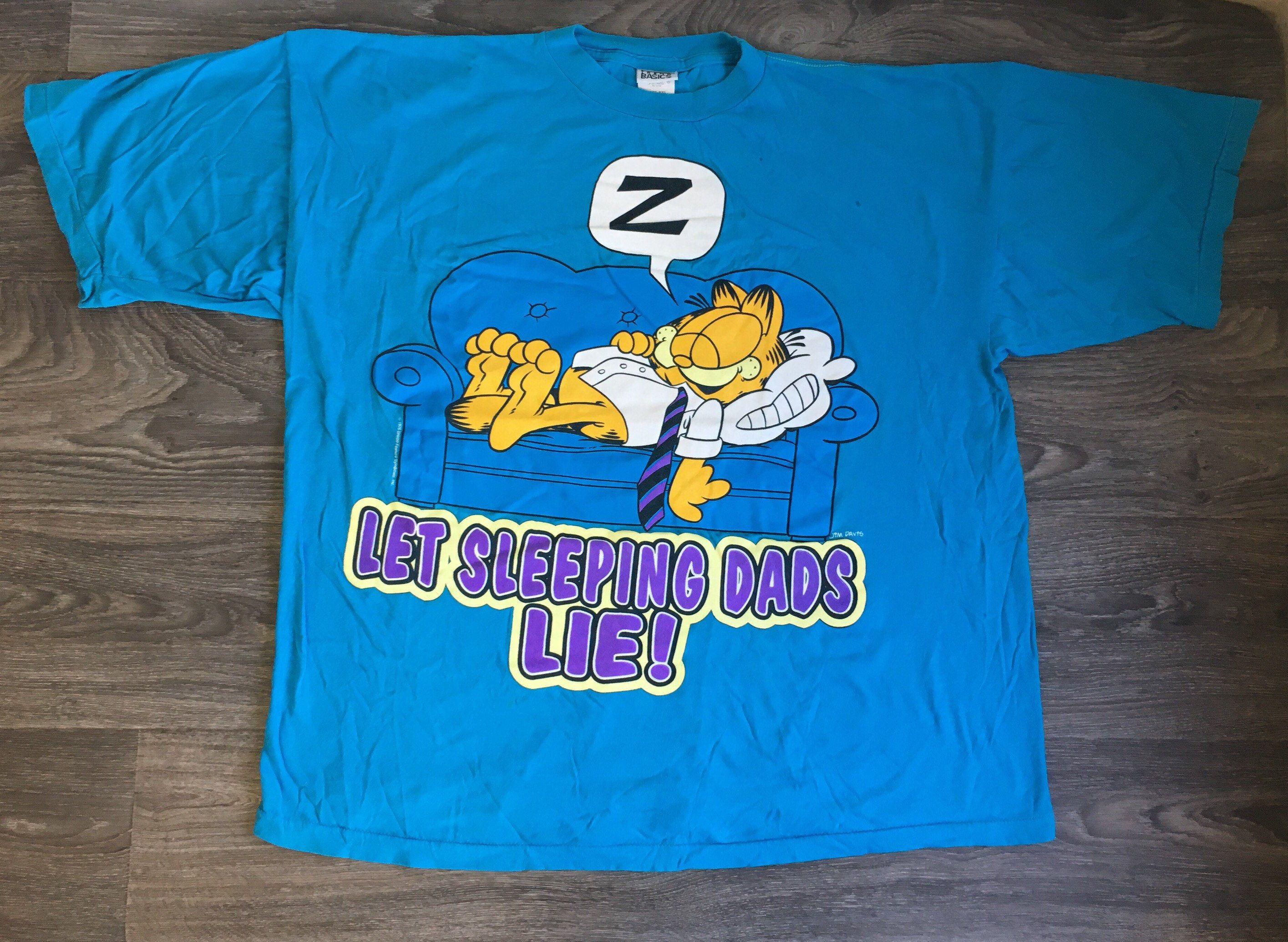 Vintage 1980s 80s Captain Garfield Tee Shirt 6dSx6