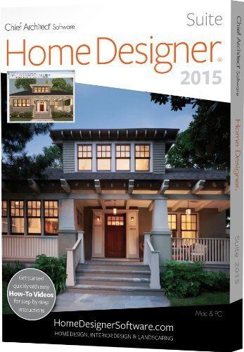 Home Designer Suite 2015 by Chief Architect... Software for home design, remodeling, interior design, kitchens and baths, decks and landscaping, and cost estimation Take a virtual tour and use 3D views to know exactly what your project will look like before you build Design in 2D and 3D or both simultaneously; built-in style templates; 6,000+ library items... http://www.amazon.com/dp/B00K4WJ2QM/ref=cm_sw_r_pi_dp_I1kAub01BRBCS
