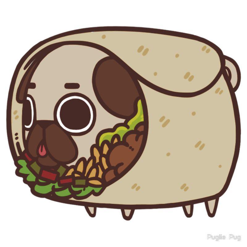 'Puglie Burrito' T-Shirt by Puglie Pug