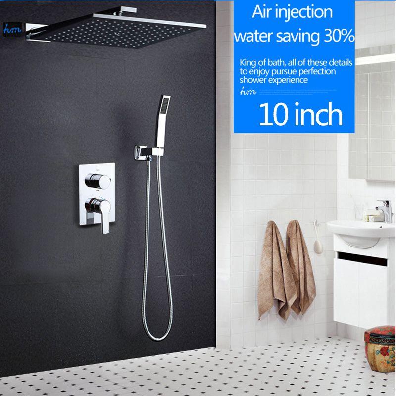 hm 10 rainfall shower head system polished chrome bath shower faucet bathroom luxury rain - Luxury Rain Showers